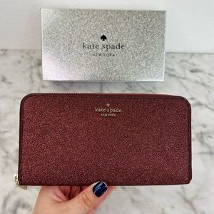 Kate Spade Shimmy Glitter Large Continental Wallet